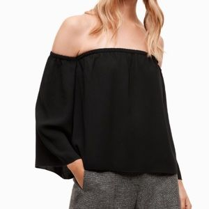 New Orly Wilfred Aritzia off the shoulder blouse